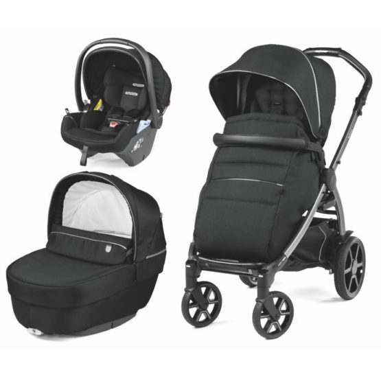 PEG PEREGO BOOK LOUNGE MODULAR SET 3U1 BLACK SHINE